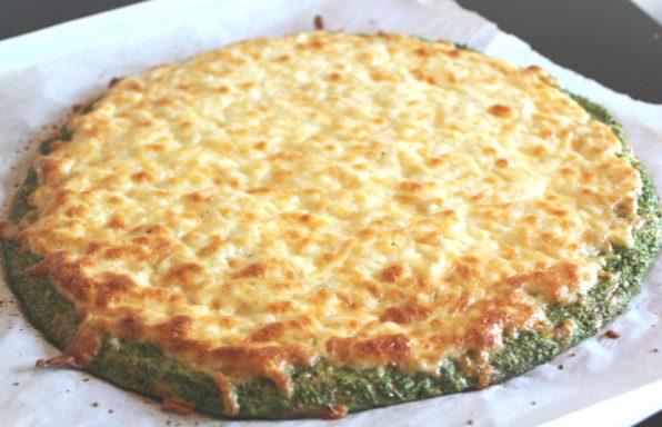 Broccoli Crust Garlic Cheese 'Bread'